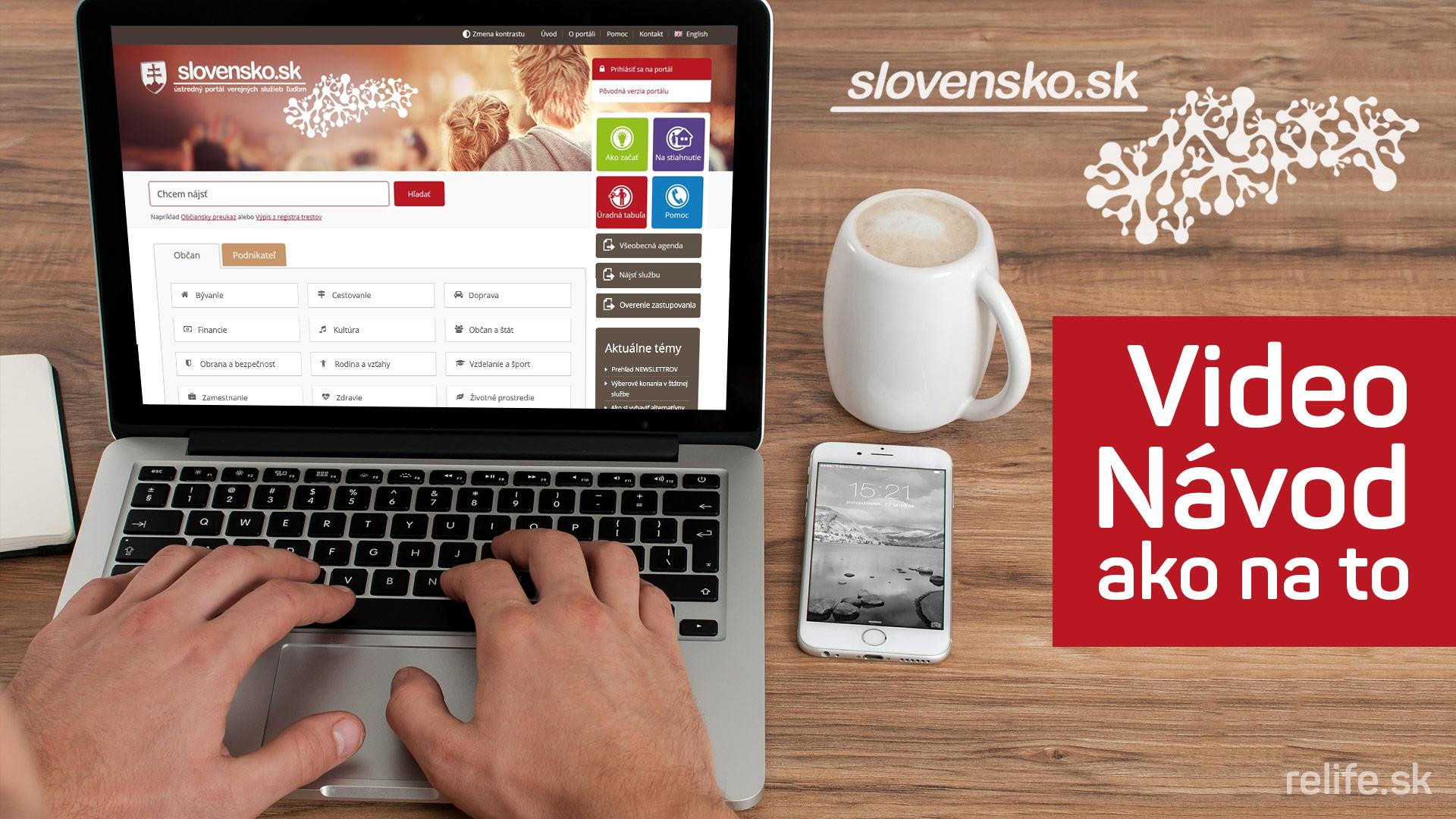 Slovensko.sk - video návod