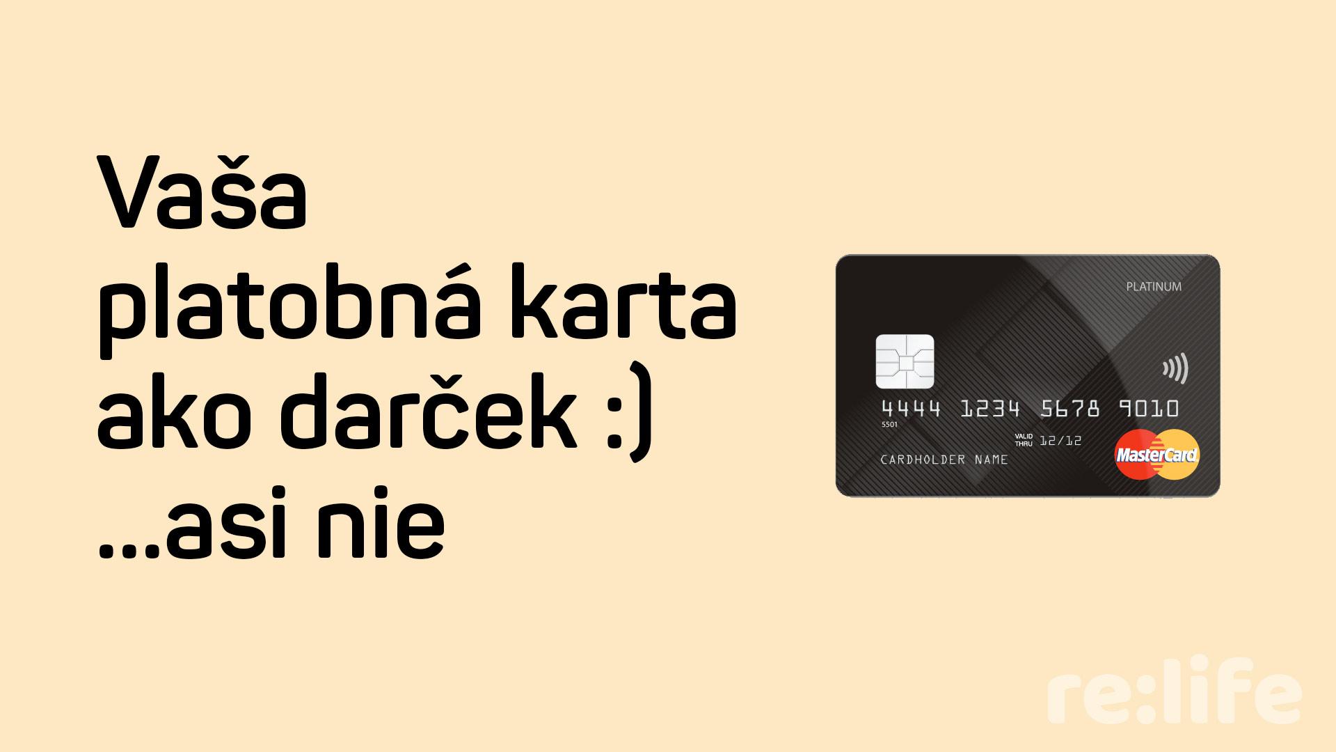Tip na Vianočný darček: platobna karta