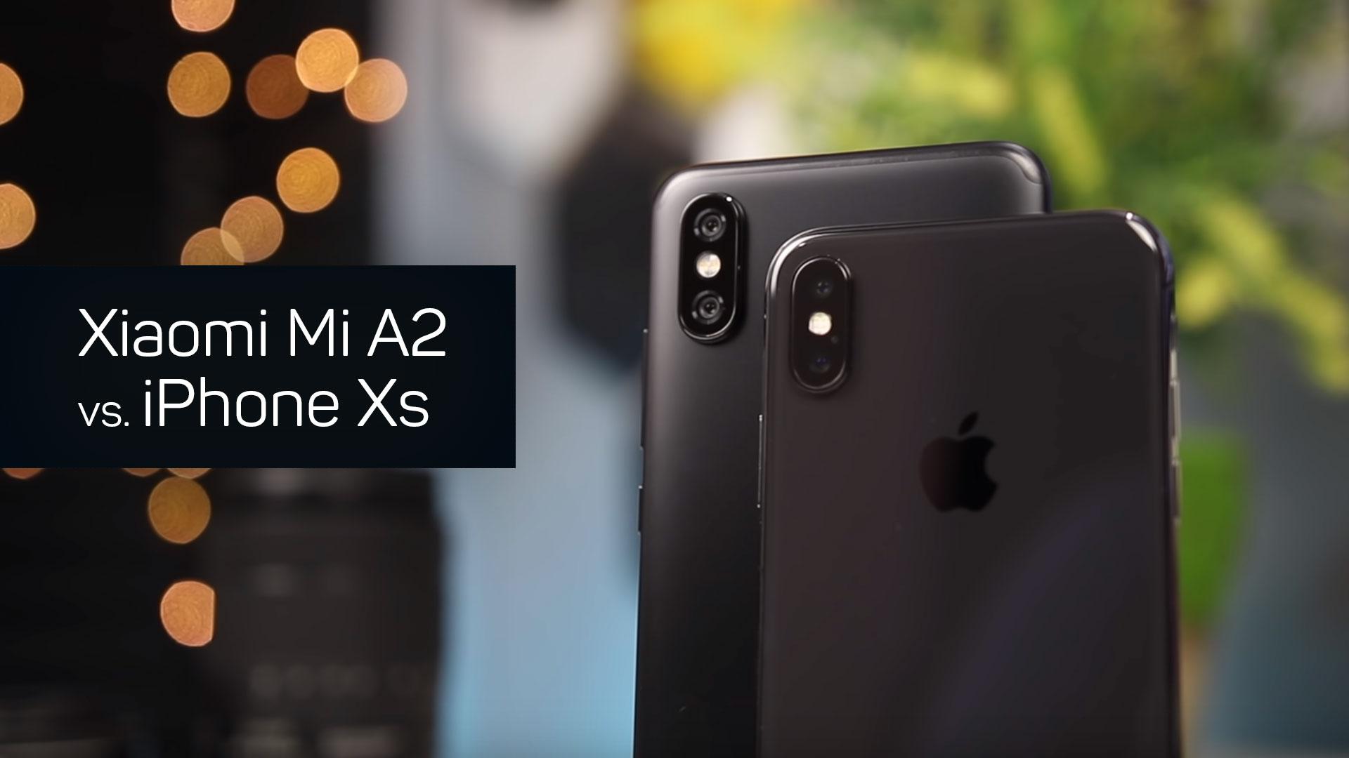 Porovnanie iPhone Xs vs Xioami Mi A2