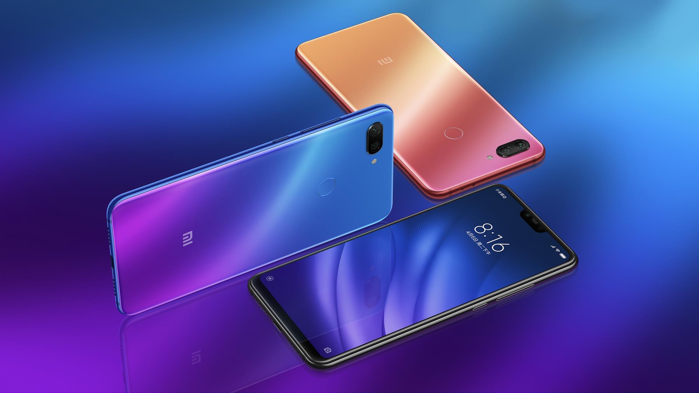 Xiaomi Mi 8 lite EU 128G Modrý