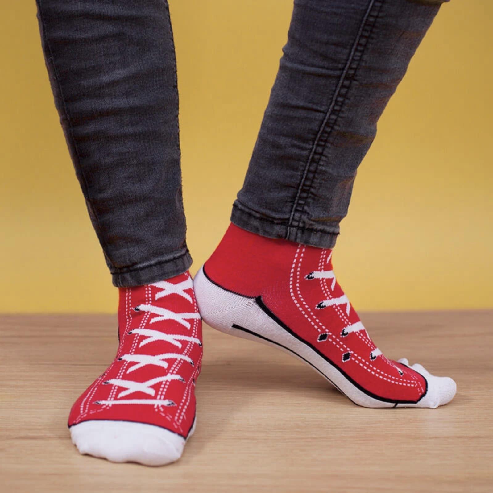 Sneaker ponožky červené