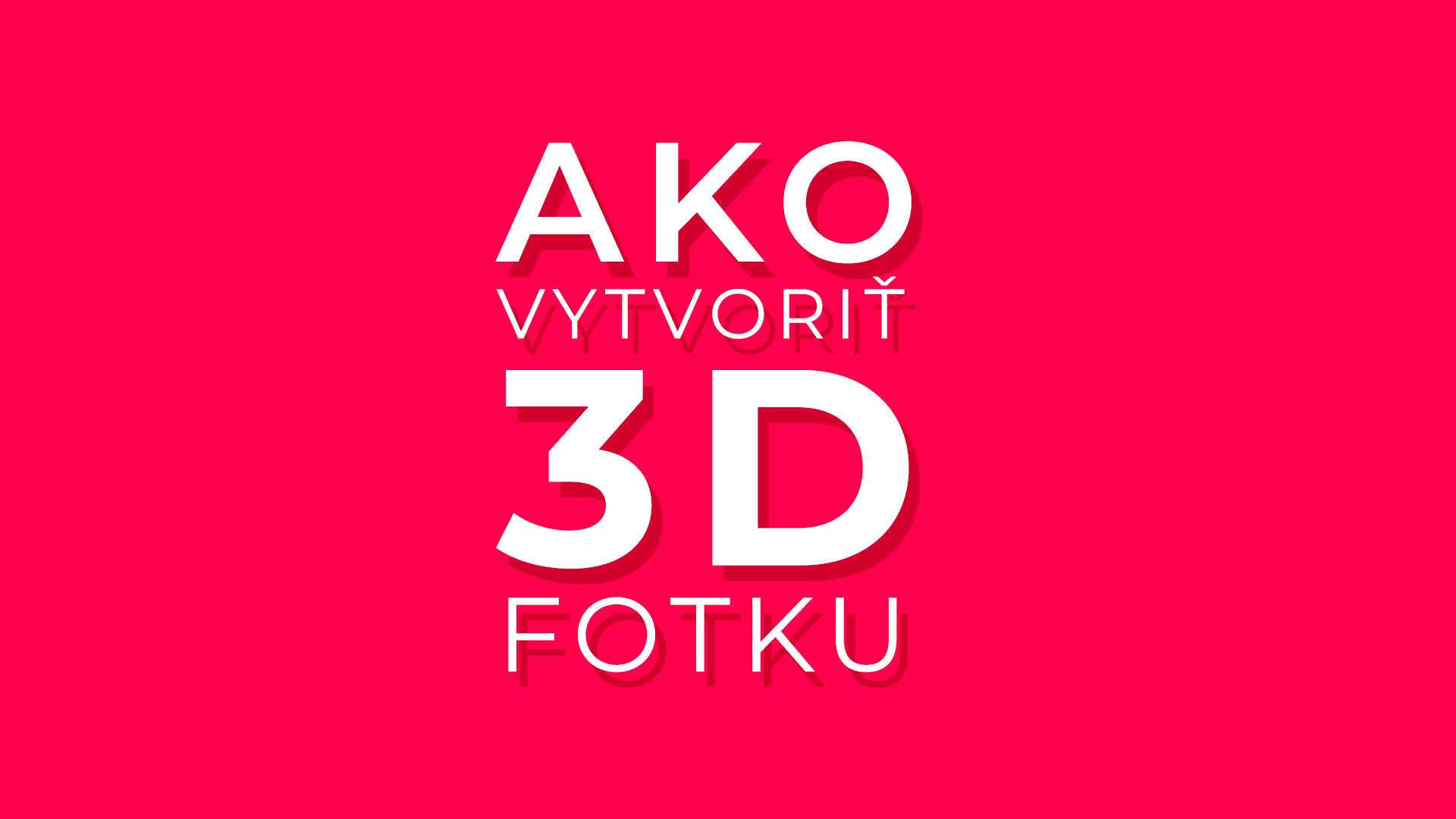 ako 3d fotka facebook