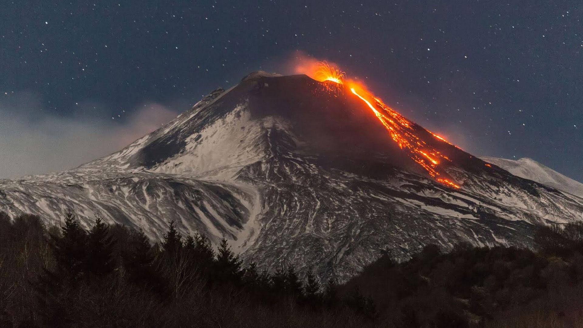 Sopka Etna - Taliansko