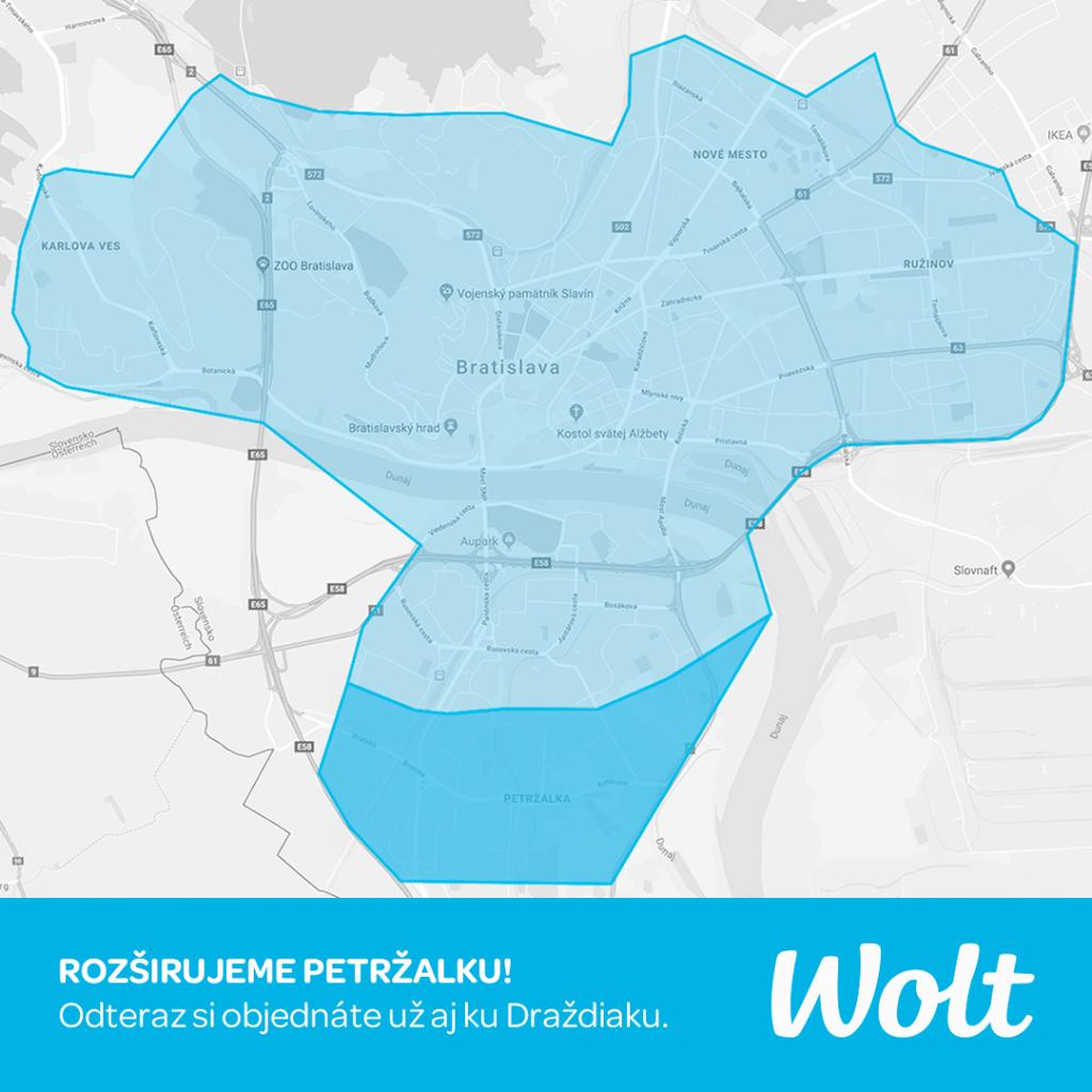 Wolt Bratislava donáška