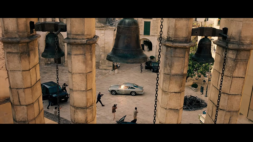 James Bond - location Matera Piazza San Giovanni