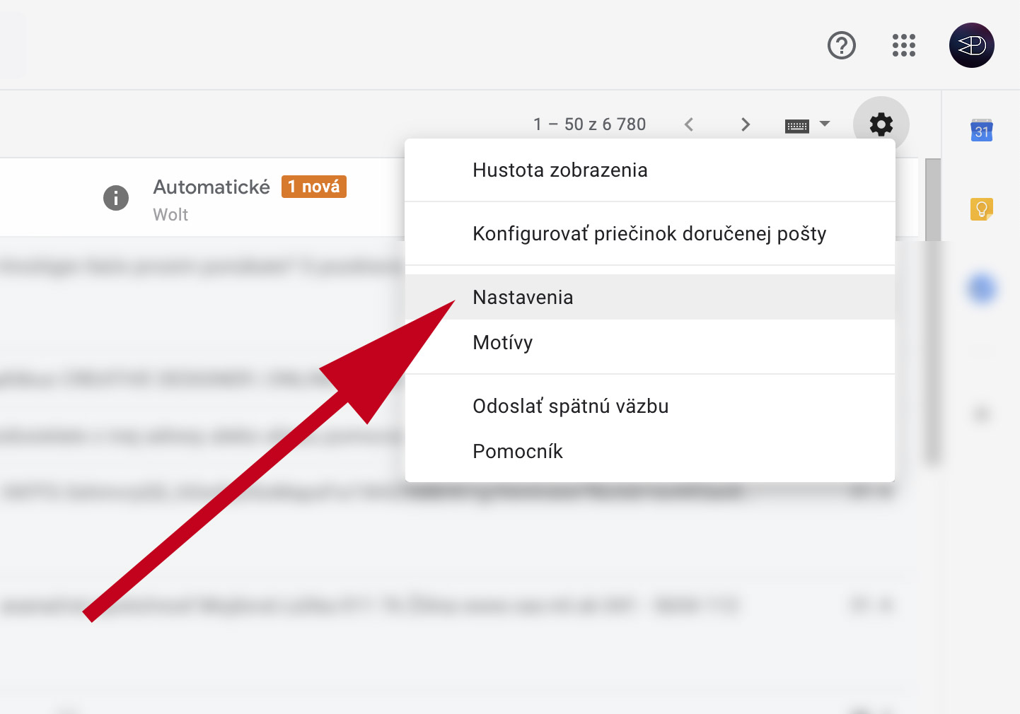 Gmail - nastavenie pošty