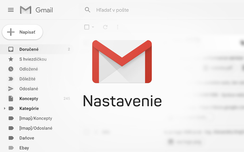 Gmail nastavenie