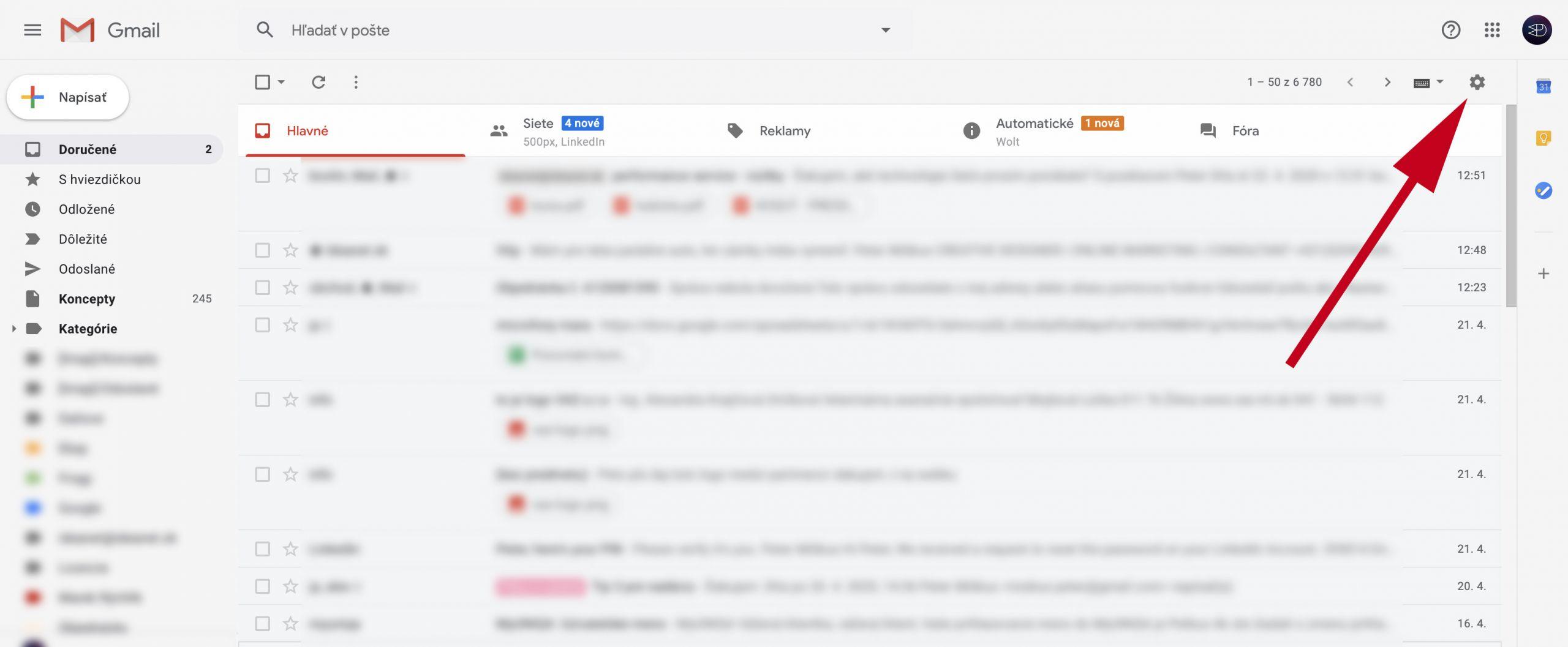 Nefunguje pošta - Gmail oprava
