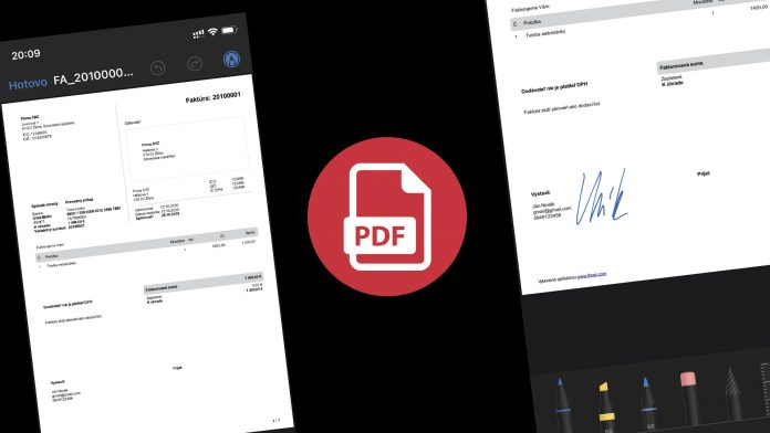 Ako podpísať PDF dokument v mobile