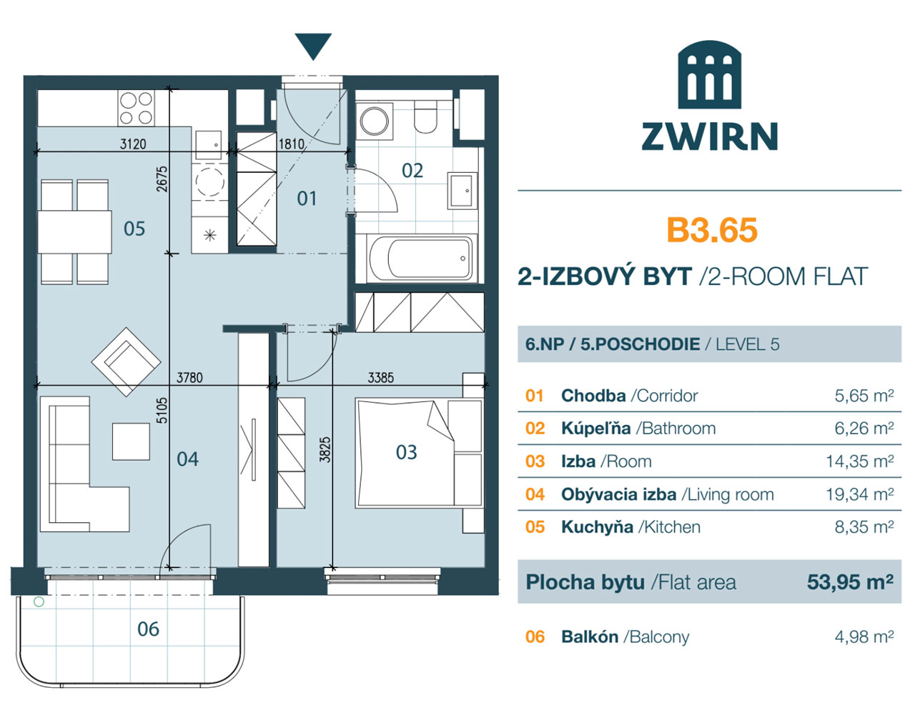 Zwirn 2 izbovy byt